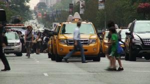 crossing NYC street